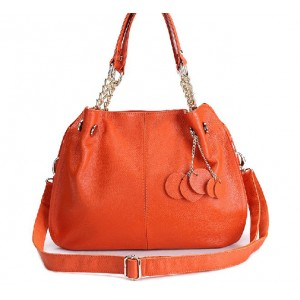 orange Satchel handbag