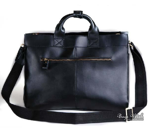 Leather brief bag, 15 inch leather mens laptop bag - BagsWish