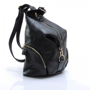black women leather backpack