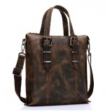 Distressed leather messenger bag men, leather travel bag
