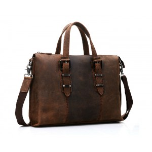 Messenger 14 laptop bag, leather briefcase