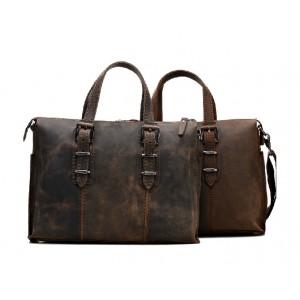 cowhide briefcase
