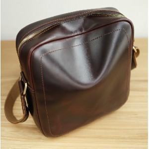 brown Best leather messenger bag men