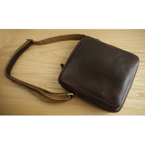 brown male messenger bag