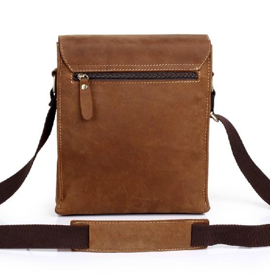 Mens vintage leather messenger bag, crossbody bag - BagsWish