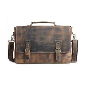 Vintage leather briefcase brown