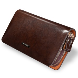 Men's genuine leather clutch, Business leather hand bag