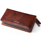 Men's leather wallet, Boutique leather clutch