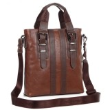 Mens bag, vintage leather shoulder bag