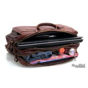 brown 16 leather laptop shoulder bag