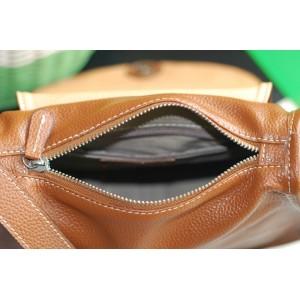 Leather hobo handbag brown