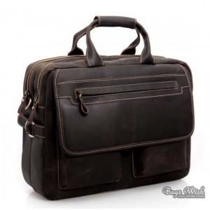 black 16 leather laptop shoulder bag