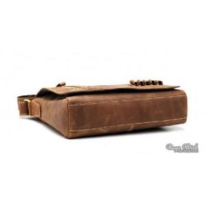 "13"" leather netbook bag brown"