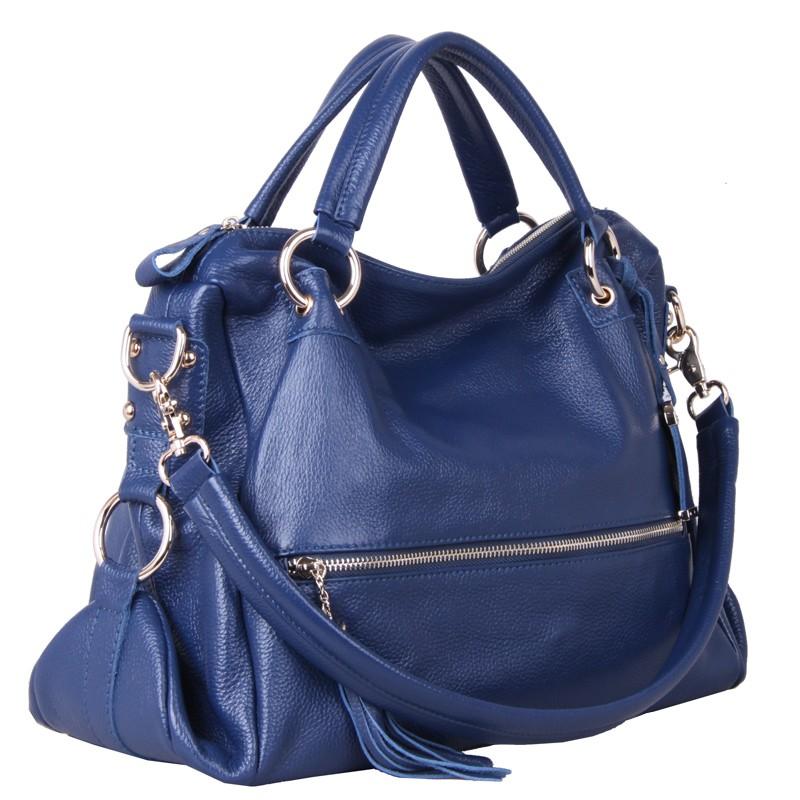 c442668e39b0 Blue Leather Handbag - Handbag Photos Eleventyone.Org