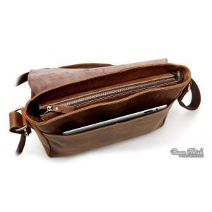 briefcase vintage brown