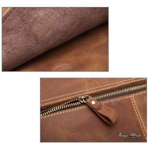 brown Leather briefcase vintage