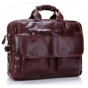 16 leather laptop shoulder bag