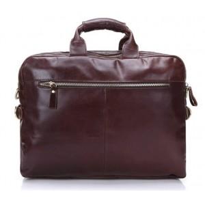 Vintage leather briefcase for men
