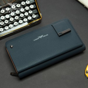 NAVY WALLET LEATHER