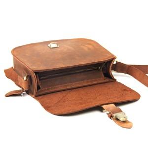 khaki leather messenger bag