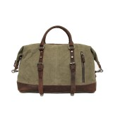 Large men and women's travel bag, retro leather washed canvas bags