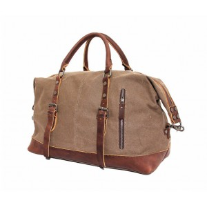 coffee retro leather washed canvas bags