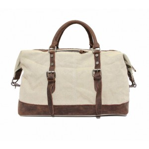 beige Large men and women's travel bag