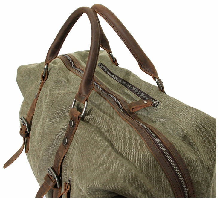 ... canvas bags  army green Large men and women s travel bag ... add9952634a6b