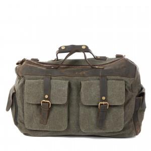 Large Traveling canvas bags, Crossbody Cowhide Shoulder bag