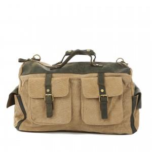 khaki Large Traveling canvas bags