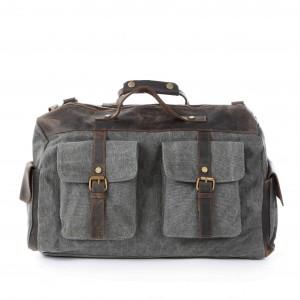 grey Crossbody Cowhide Shoulder bag