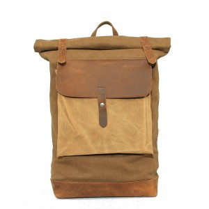 khaki Tourism canvas bags