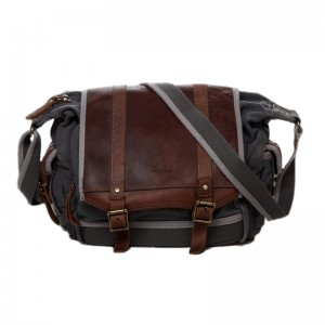 grey Guys Crossbody Canvas Messenger