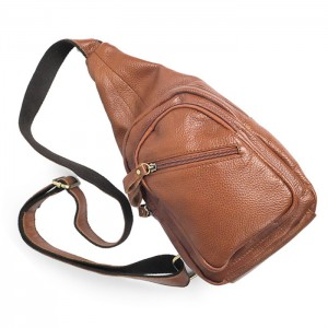 brown Unique Genuine Leather Bag