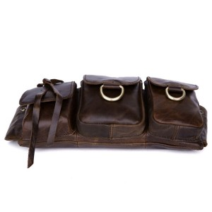 classic coffee leather purse