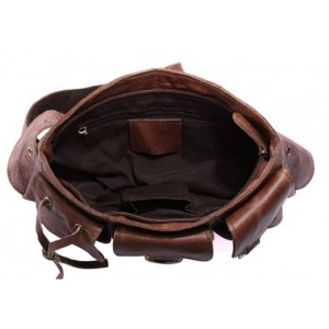 coffee Leather fanny pack