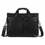Best mens leather briefcase, black computer bag case