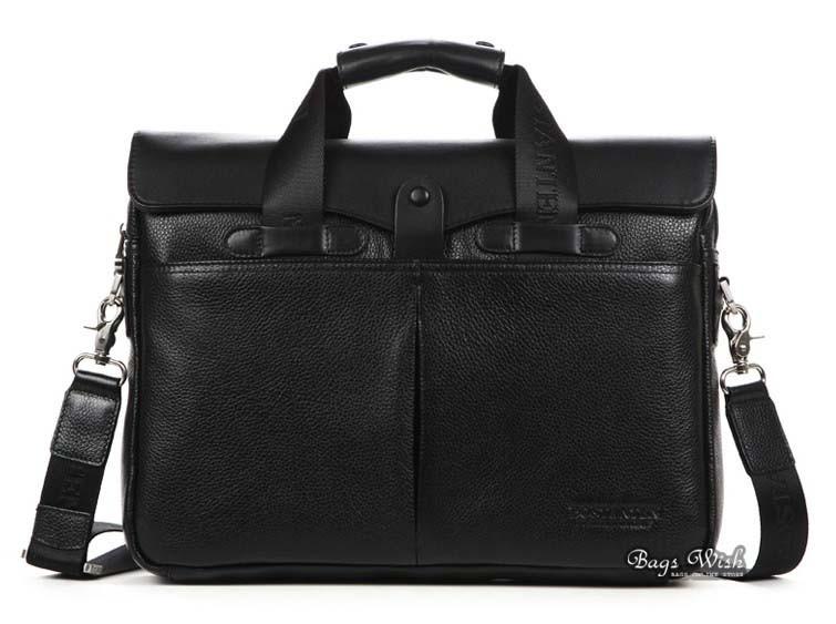 Best mens leather briefcase, black computer bag case - BagsWish