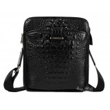 Cool messenger bag for men, black cross body bag