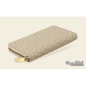 beige non leather wallet