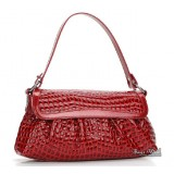Crocodile ladies leather purse red, black leather purse handbag
