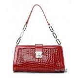Leather handbag red, black leather purse handbag
