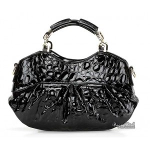 Leather handbag for women black