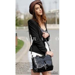 leather messenger handbag for women