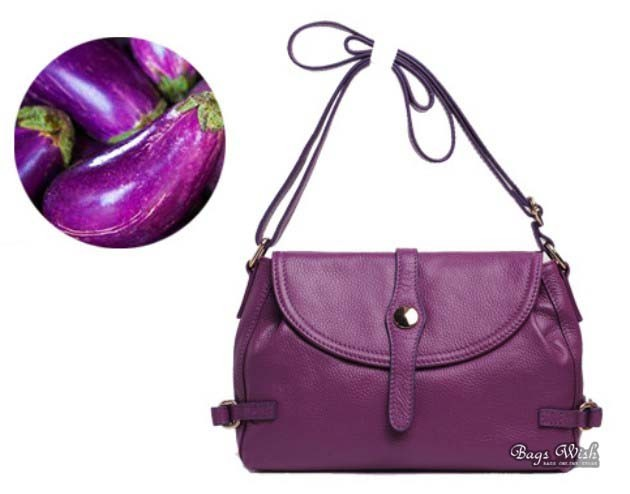 Purple Leather Bag For Women