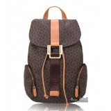 Satchel backpack coffee, beige rugged leather backpack