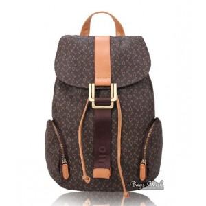 Satchel backpack coffee, beige rugged leather backpack