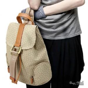 Satchel backpack beige