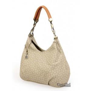 Satchel leather handbag