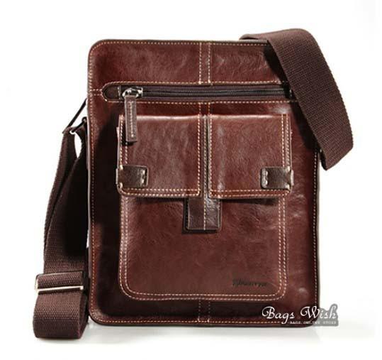 Men leather messenger bag coffee, brown mens vintage leather bag ...